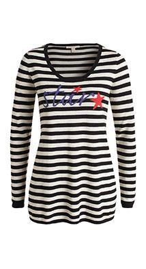 Esprit / gestreepte trui van een viscosemix,49,99