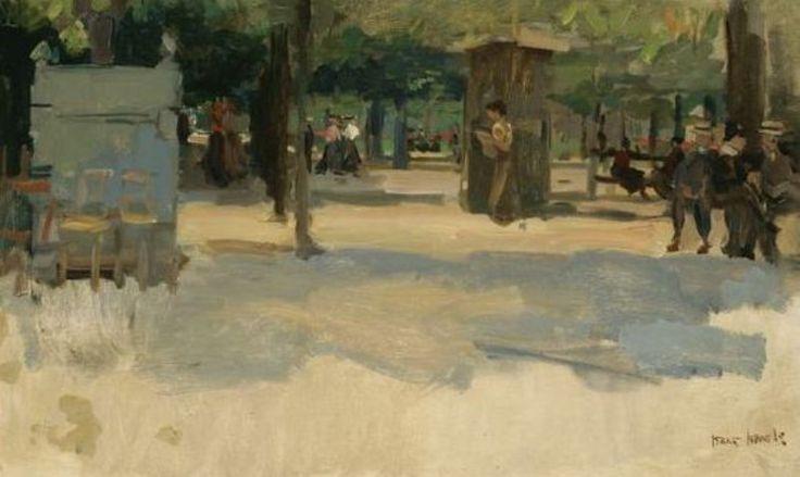 Isaac Israëls - Elegante Parijzenaars in de Tuilerien op een zonnige dag