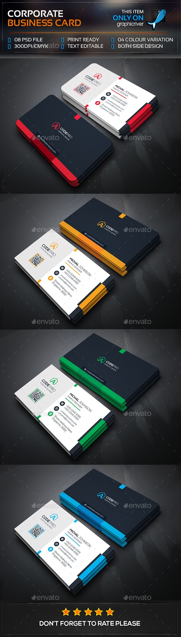 Best 25 business card templates ideas on pinterest business mega corporate business card template psd visitcard design download http reheart Images