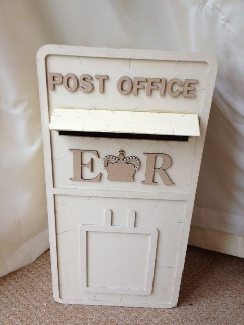 Wedding post box mail wooden personalised decor accessories on
