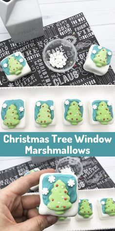 Turn store bought marshmallows into a fun Christmas treat with only a handful of ingredients. These Christmas tree window marshmallows are a hit at Christmas parties and make a jolly hot cocoa topper. Best yet this is a festive food craft easy enough to do with the littlest family members. #marshmallows #homemadeholidays #holidayfun