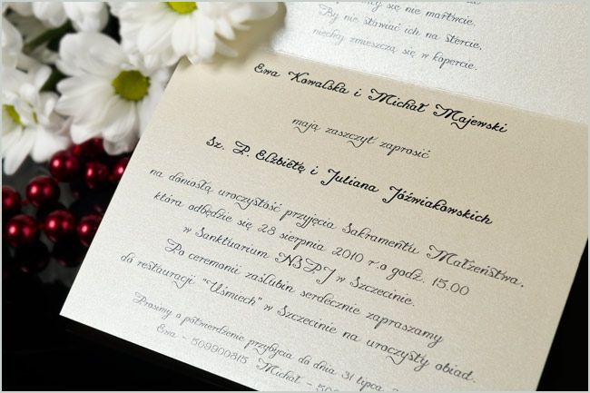 Zaproszenia Ślubne perłowe