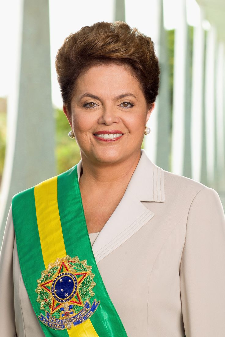 Dilma Rousseff, the first woman president of Brazil