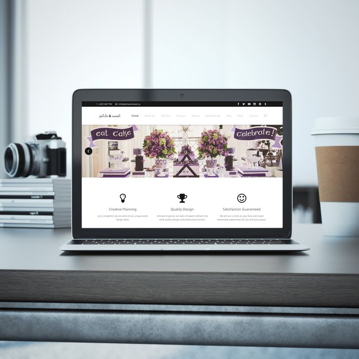 Website Design for Petite & Sweet