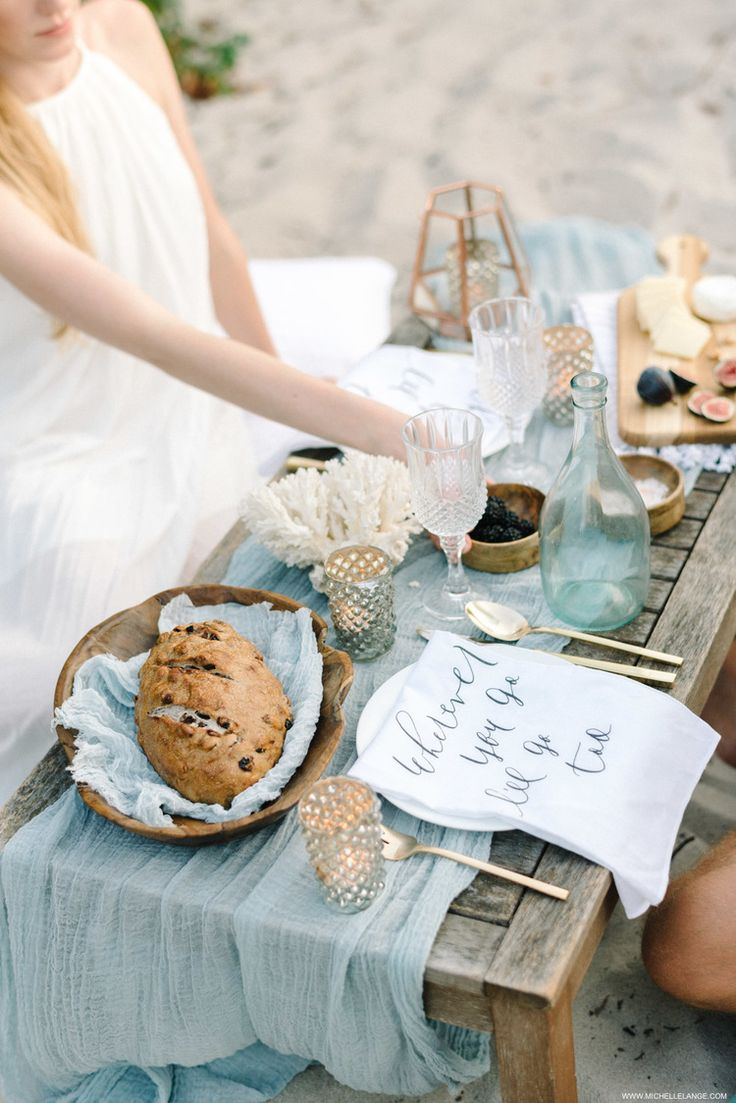 Beach picnic styled by Reverie Made and Parris Chic Boutique, Photography by Michelle Lange
