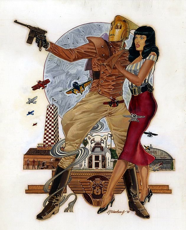 The Rocketeer and Betty by Gale Heimbach