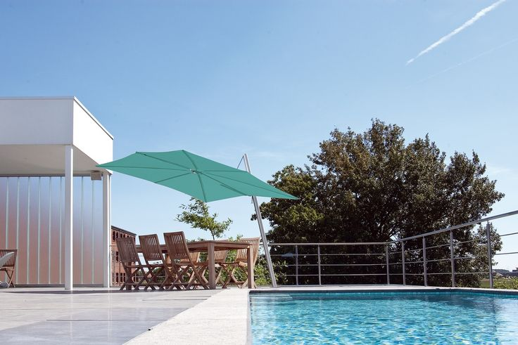 The Spectra Cantilever umbrella - providing a striking design with functionality.