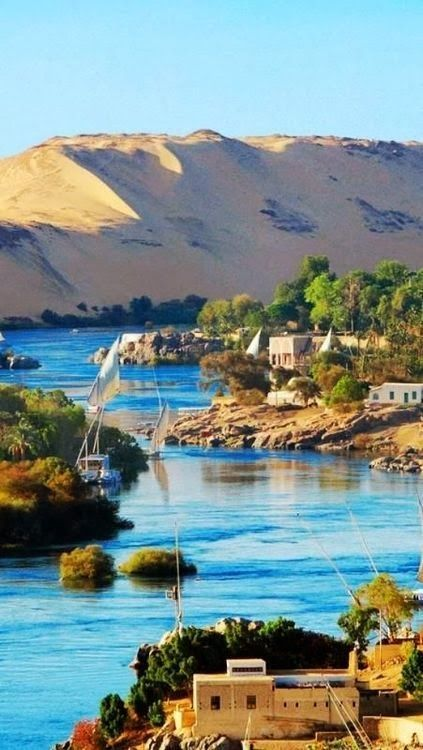 Nile River, Egypt.  Reasons to visit Egypt this year.