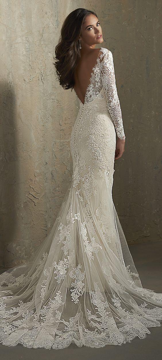 Featured Wedding Dress: Adrianna Papell Platinum; Wedding dress idea.