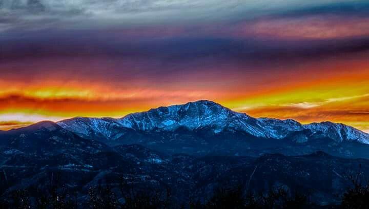 Sunset, Pikes Peak, CO