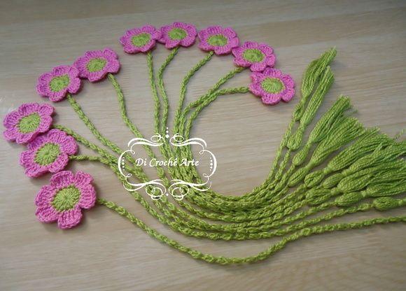 Marcador de Página Flor | Di Crochê Arte | Elo7 Mais