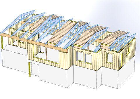 PASSIVT «LEGOHUS»: - Det er litt som å bygge lego, sier driftsleder Espen Johannessen fra Mjøselement om monteringen av elementene til familien Olsen råbygg på Tomasjord.