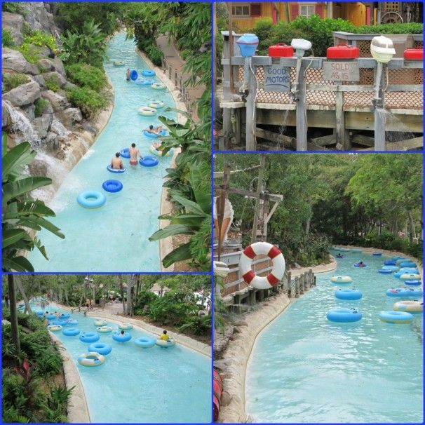 Typhoon Lagoon's Castaway Creek - love this!  Floating around on the creek is always the MOST relaxing part of our whole Disney World vacation.  And after a few days in the parks -- you really need this!