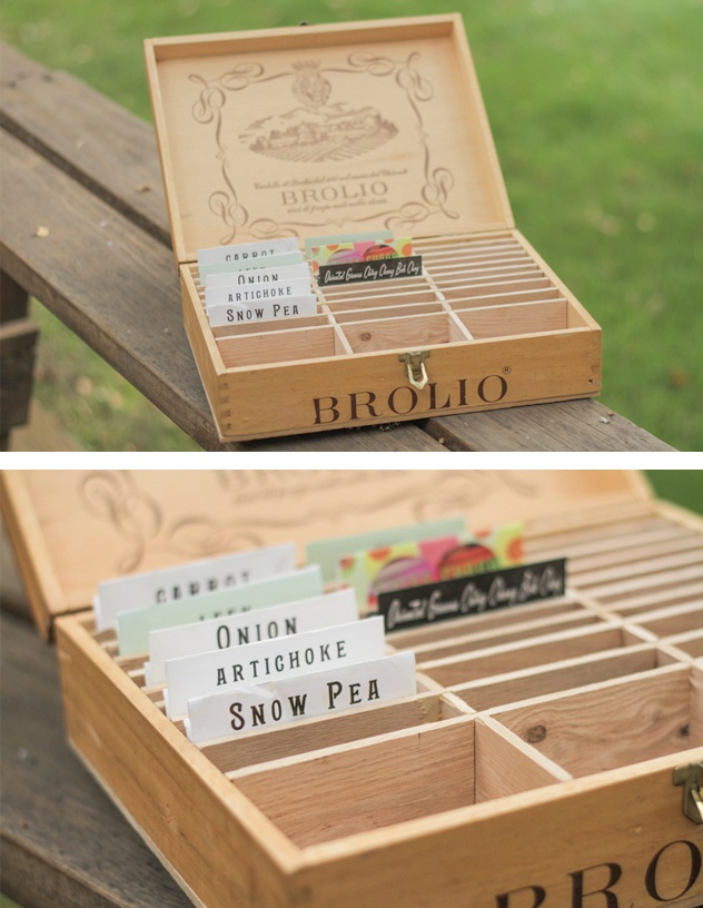 wine crate craft ideas diy box for vegetable seeds made from a wine crate 5728