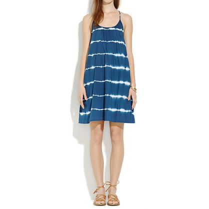 Backyard Sundress in Indigo Shibori - dresses & skirts - Women's NEW ARRIVALS - Madewell