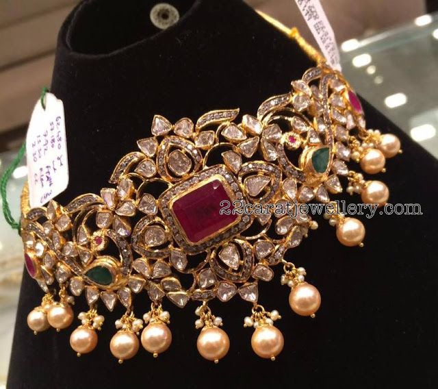 57 Grams Heavy Pachi Choker - Jewellery Designs