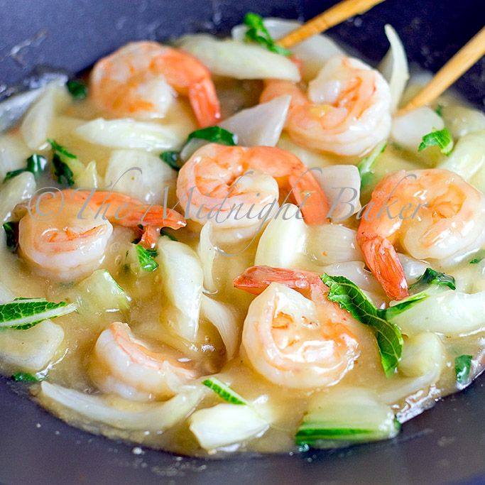 Gastrolux Shrimp with Bok Choi by The Midnight Baker