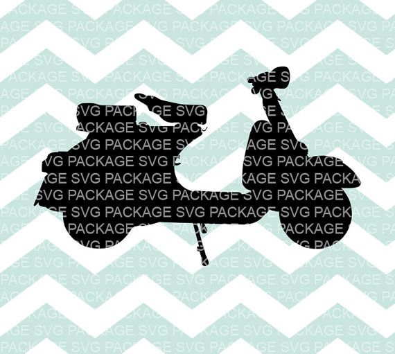 SVG Clipart Scooter Moped Bike Svg Bike Clipart Bike by SVGpackage