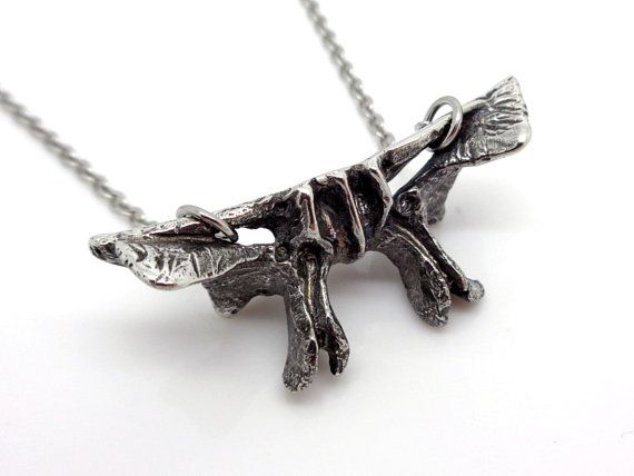 Sphenoid Bone Pendant Necklace Handmade Anatomical by Farjil