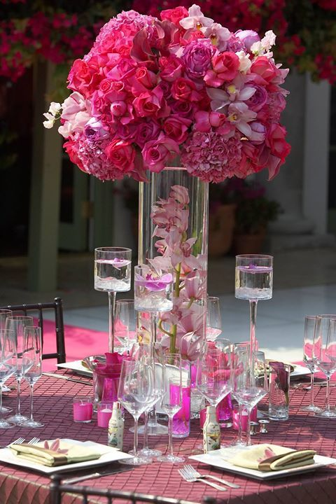Best ideas about hot pink centerpieces on pinterest
