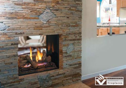 Direct vent gas fireplaces montebello see through gas for Montebello fireplace