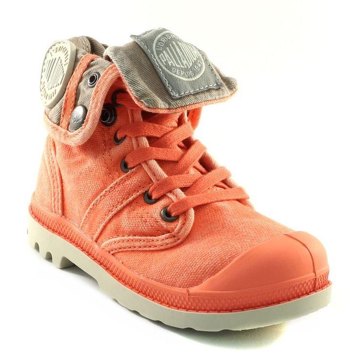 349A PALLADIUM BAGGY KID ORANGE www.ouistiti.shoes le spécialiste internet de la chaussure bébé, enfant, junior et femme collection printemps été 2015