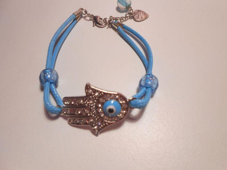 Baby Blue Envy Hand Bracelet. www.highmoda.eu