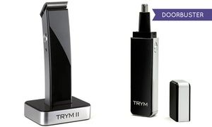 Trym II Modern Beard and Hair-Clipper Kit and Nose-Hair Trimmer