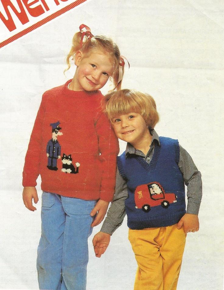 Knitting Pattern Postman Pat : Postman pat sweaters BOYS VINTAGE KNITTING PATTERNS Pinterest Knitting ...
