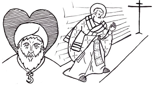 Bible Illustrated: Proverbs 11:20  Those who are of a perverse heart are an abomination to the Lord,  But the blameless in their ways are His delight.  (Pictured: Arius and St. Athanasius)