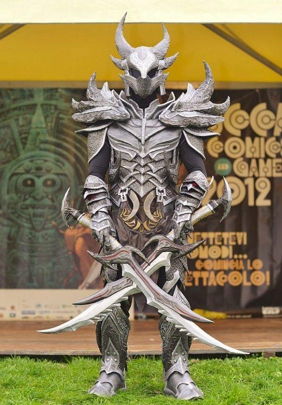 Cosplay Armadura Daedrica de Skyrim