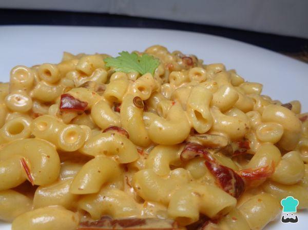 Receta de Sopa de coditos con crema y chipotle  #RecetasGratis #RecetasFáciles #Pasta #Macarrones #Coditos