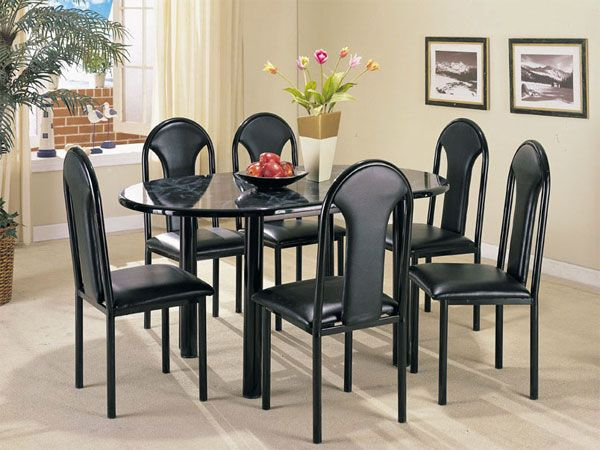 Uptown Faux Marble Dining Table Set (06823 Set) By Acme