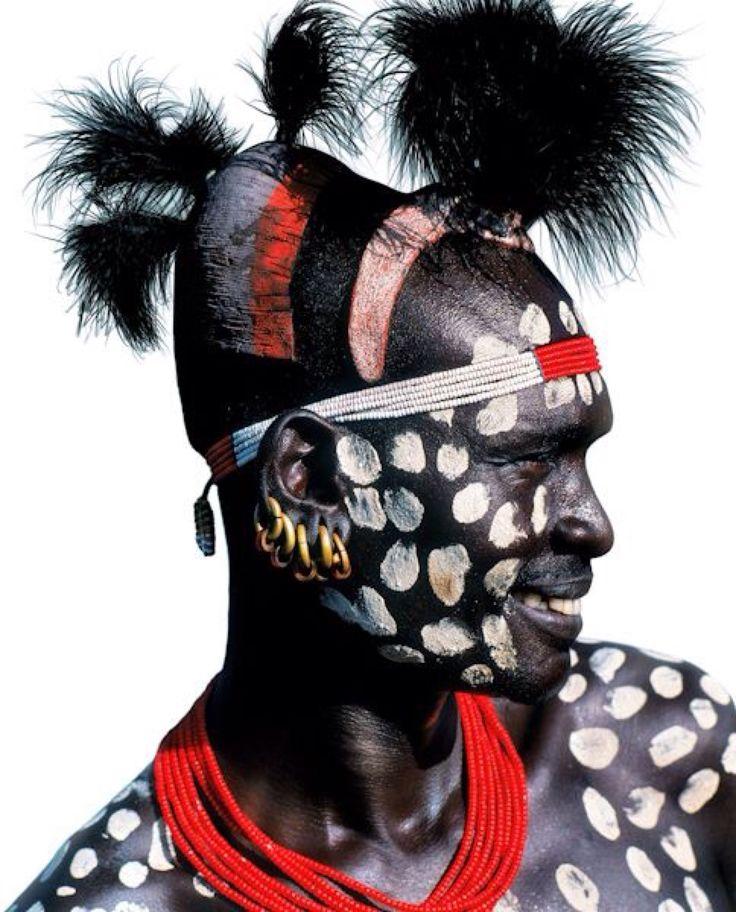 Karo Man, Ethiopia By Carol Beckwith & Angela Fischer