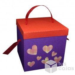 Caja con corazones.. puro amor!