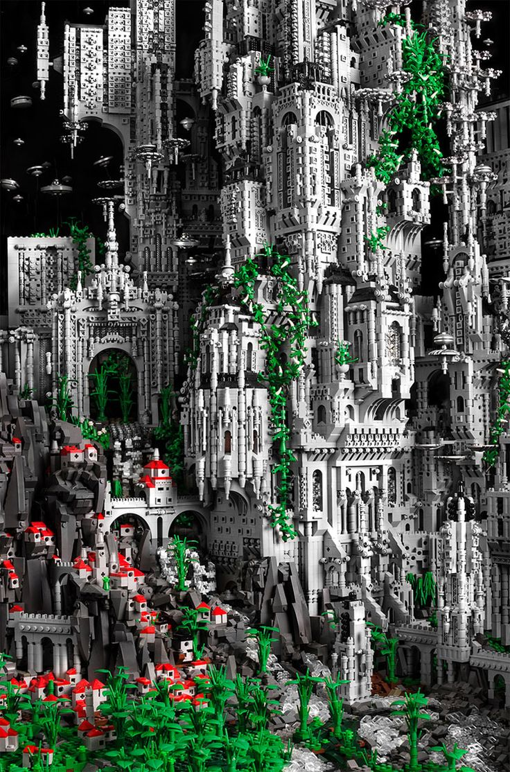 At over five feet tall and six feet wide, Mike Doyle's Odan is an incredible fantasy world built from over 200,000 LEGO pieces. It took over 600 hours to build. Entitled, 'The Millennial Celebration of the Eternal Choir at K'al Yne, Odan', it represents Doyle's first work in his ambitious Contact series of large-scale LEGO sculptures.