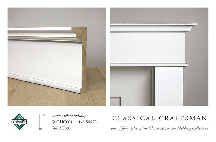 WindsorONE Classical Craftsman Header Buildup (WOHC001, 1x5 S4SSE, WOST001), part of the Classic American Molding Collection