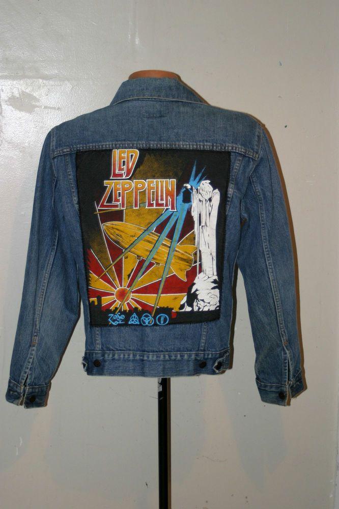 VINTAGE 1970s - 80s LED ZEPPELIN LEVIS JEAN JACKET SMALL ...