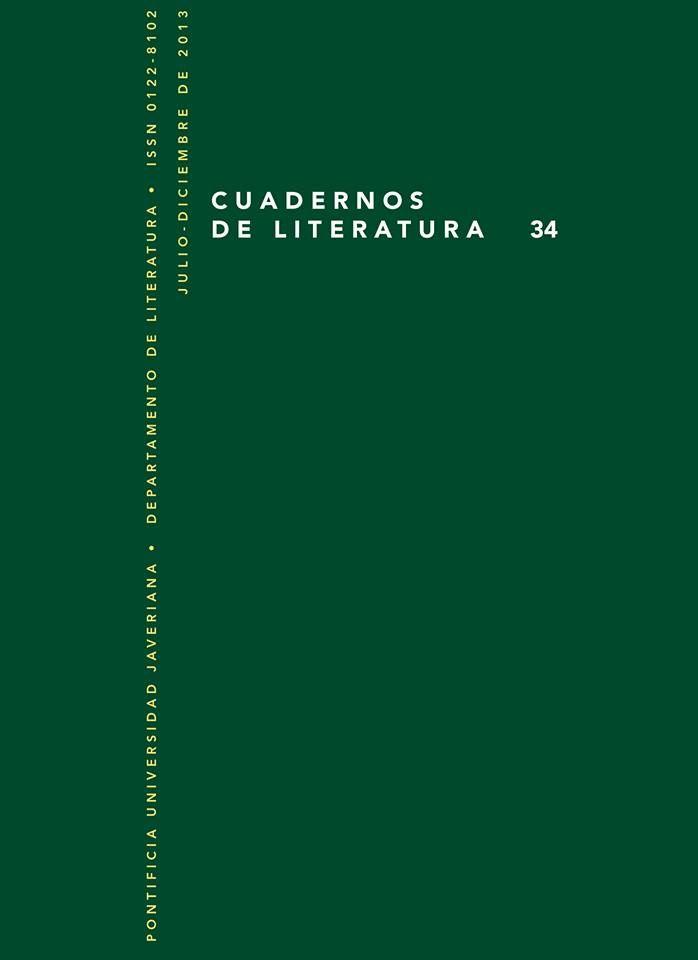 """""""Cuadernos de Literatura"""" 34"""