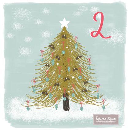 Advent Challenge 2014 - Day 2 - Christmas Tree by Rebecca Stoner www.rebeccastoner.co.uk