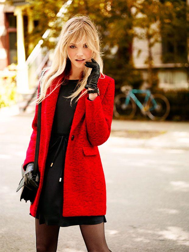 Autumn Collection Woman AW16 #red#jacket#black#dress#autumn#elegance