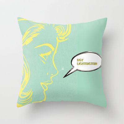 POP ART Throw Pillow by Klaff Design - $20.00