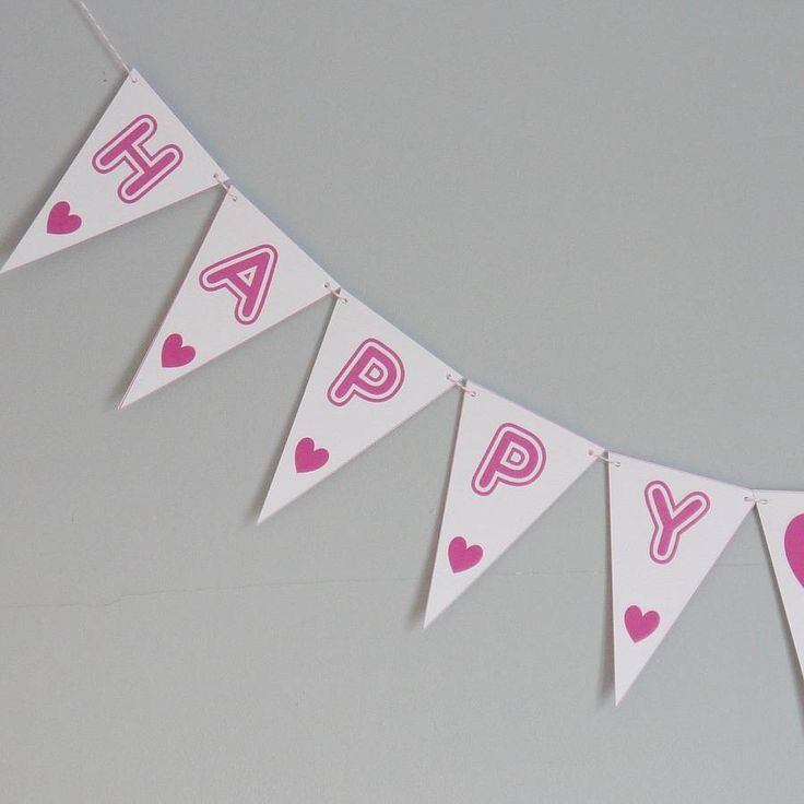 happy birthday bunting medium by daisyley | notonthehighstreet.com