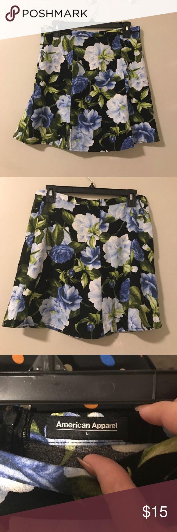 American apparel skater skirt A floral printed American apparel skirt American Apparel Skirts Mini