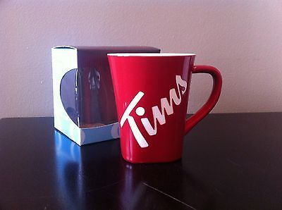NEW Tim Hortons 2013 Coffee Mug Cup #013 Limited Edition NIP Gift Idea Red w Box