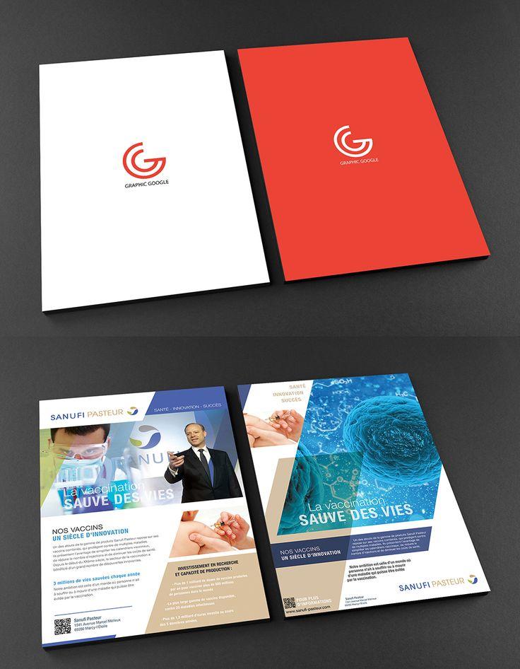 Free A4 Front And Back Flyer Mockup Flyer Mockup Flyer Cool Business Cards