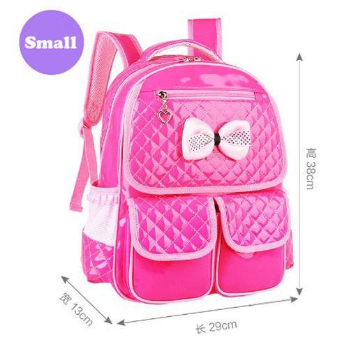 New Cute Children Backpack Grade 1-6 Girls School Bags PU Orthopedic Schoolbag Waterproof Student School Backpacks Pink 2017 M2