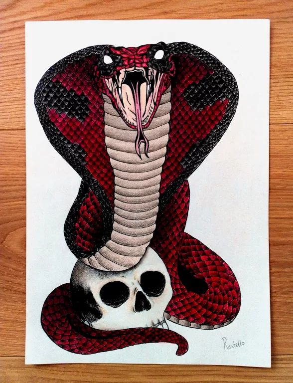 """Foto: """"I bet you're wondering, why the red suit? Well, that's so bad guys can't see me bleed! """" Deadpool  Snakepool #DailyDeadpoolTattooDesignSubmission #DailyDeadpoolTattoo #deadpool"""