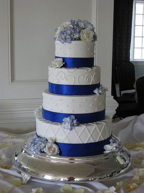 Royal Blue Ribbon Wedding by hainesbarksdale, via Flickr