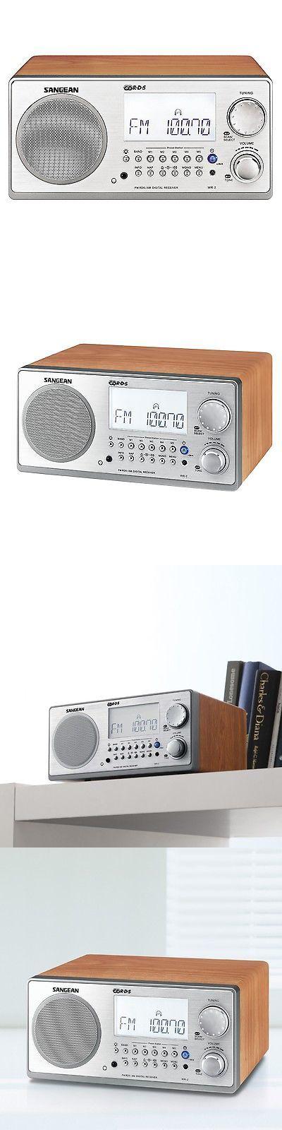 Portable AM FM Radios: Sangean Wr-2 Fm-Rbds Am Wooden Cabinet Digital Tuning Radio Receiver In Walnut -> BUY IT NOW ONLY: $116.76 on eBay!